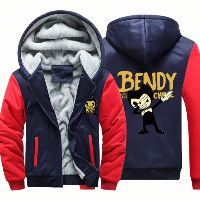 Bendy and the Ink Machine Hoodies Sweatshirts Thick Fleece Camouflage Jackets Coats