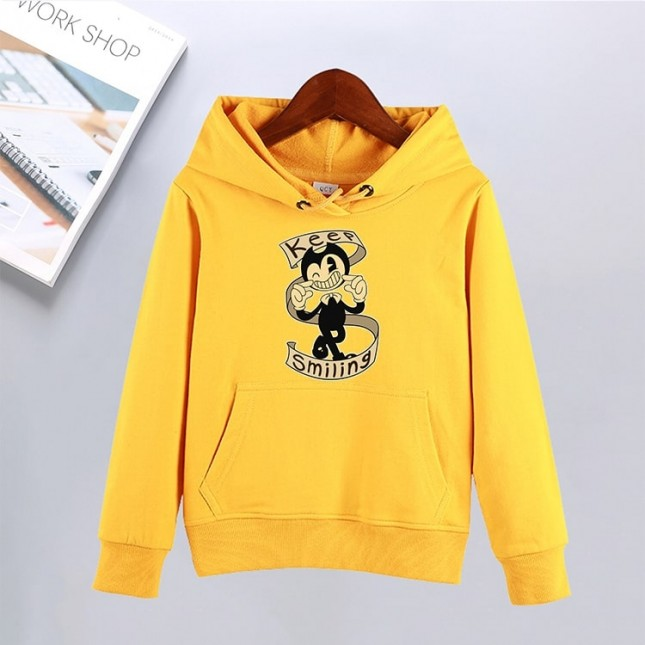 Bendy and the Ink Machine hoodie thick fleece sweatshirt Keep Smiling