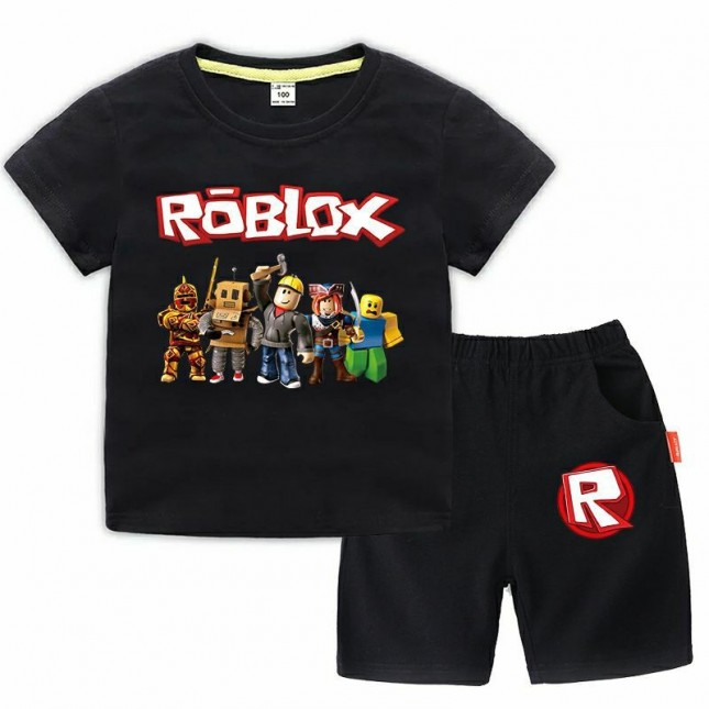 Roblox T-Shirt Kids Cotton Shirt Funny Youth Tee 3