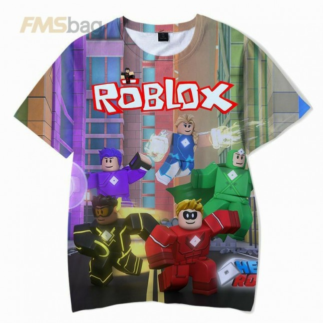 Roblox Kids T-Shirt 3D Short Sleeve Clothes 3