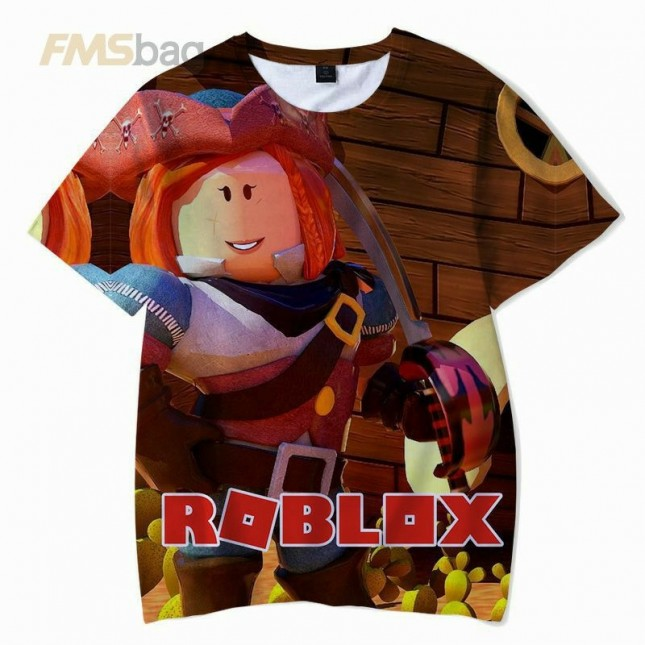 Roblox Kids T-Shirt 3D Short Sleeve Clothes 4