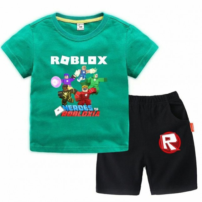 Roblox T-Shirt Kids Cotton Shirt Funny Youth Tee 5