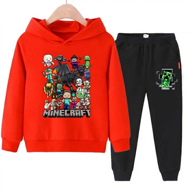 Minecraft boys Hoodies Cotton Sweatshirts