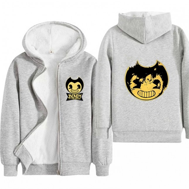 Bendy and the Ink Machine Kids Hoodies Zip Up Fleece Jackets Winter Coats 1