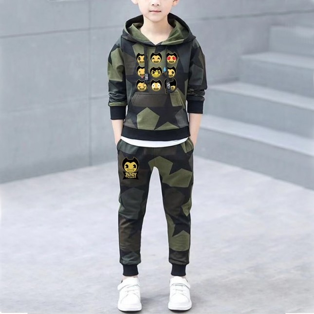 [NEW] Bendy and the Ink Machine Kids Cool Hoodies For Boys Girls  Gaming  Hoodies Camo