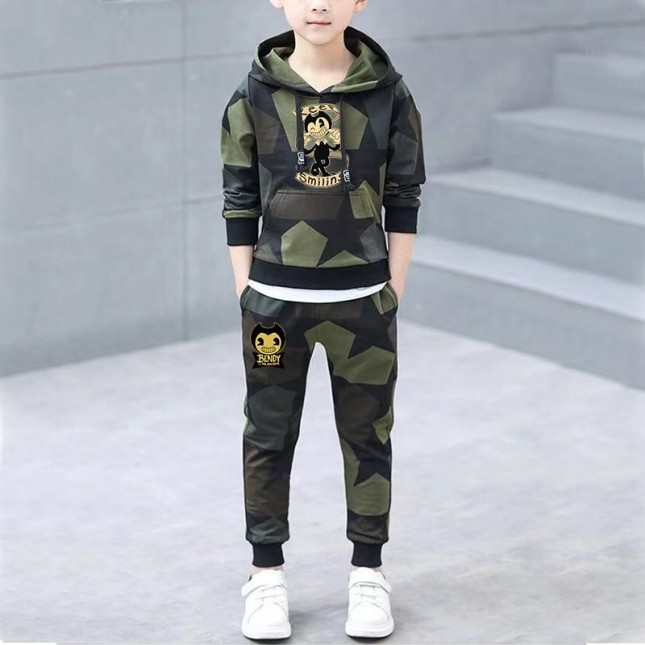 [NEW] Bendy and the Ink Machine Kids Cool Hoodies For Boys Girls  Gaming  Hoodies  Children Clothing