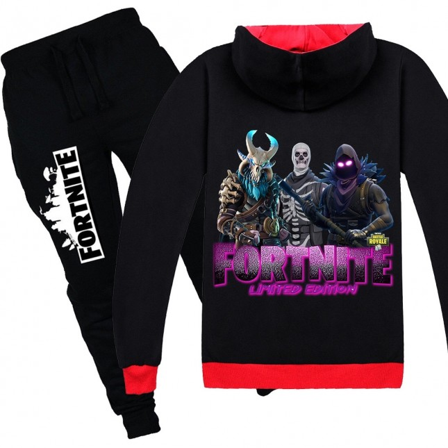 Fortnite Kids Cotton Zip Hoodies Boys Girls Sweatshirts Clothing Jacket 4
