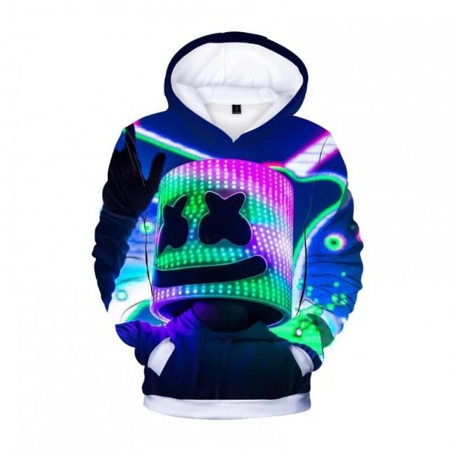 Marshmello 3D Print Hoodie Sweatshirt Game Surrounding Clothing Fashion Hip Hop (More styles)