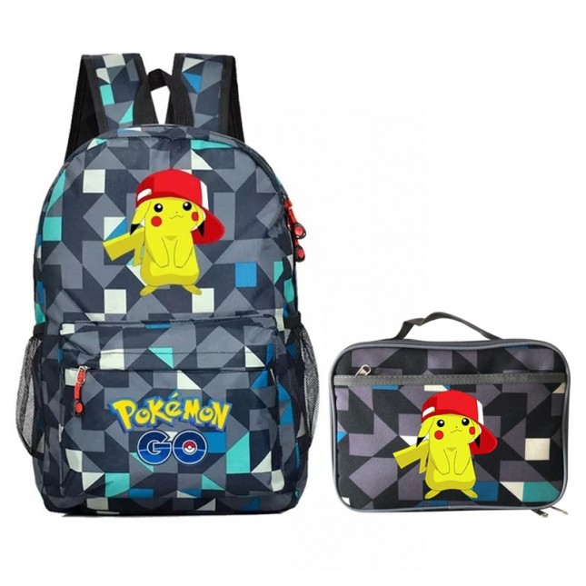 Pikachu Backpack Schoolbag Bookbag lunch box  Handbag