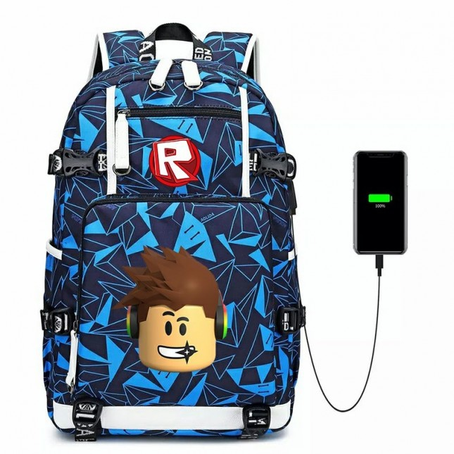 Roblox Backpack Waterproof School Bag 600D Bookbag