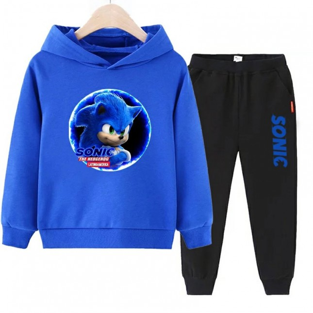 Sonic The Hedgehog boys Hoodies Cotton Sweatshirts 1