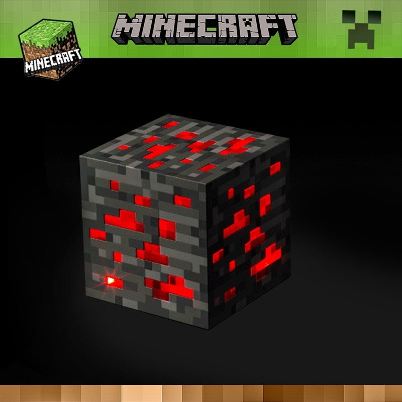 Minecraft Light Redstone LED Lamp Toy  Night Light Touch LED Lamp Minecraft Toys for Kids Gift