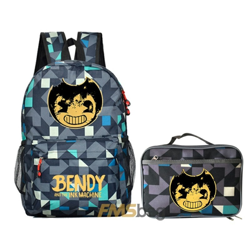 Bendy and the Ink Machine Kids Schoolbag Backpack Students Bookbag Travelbag lingge