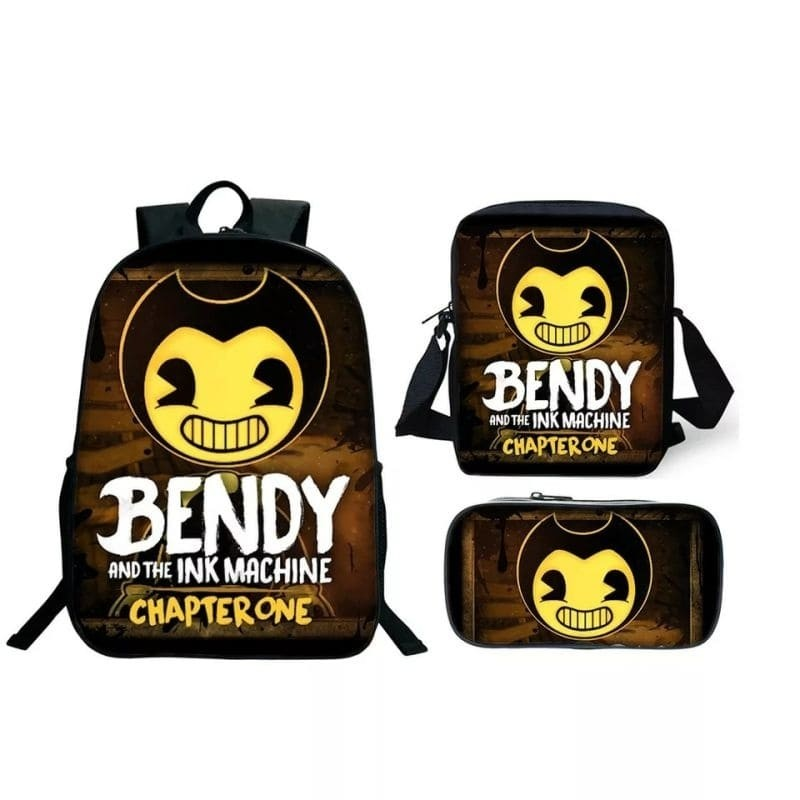 Bendy and the Ink Machine Insulated Lunch Bag School Portable Lunchbox