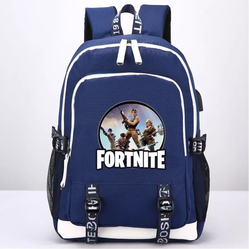Fortnite Backpack School Bag Bookbag with USB Charging Port New 3