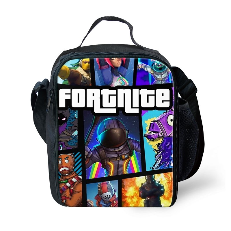 Fortnite Lunch Box Waterproof Insulated Lunch Bag Portable Lunchbox for School Travel Office(6 designs)