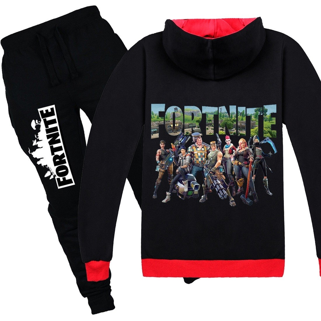 Fortnite Kids Cotton Zip Hoodies Boys Girls Sweatshirts Clothing Jacket 1