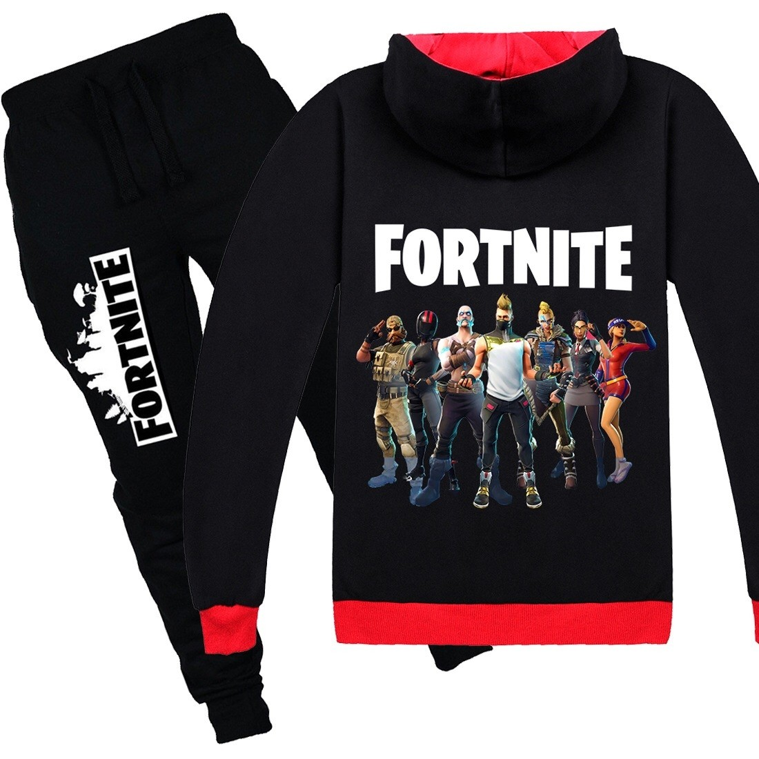 Fortnite Kids Cotton Zip Hoodies Boys Girls Sweatshirts Clothing Jacket