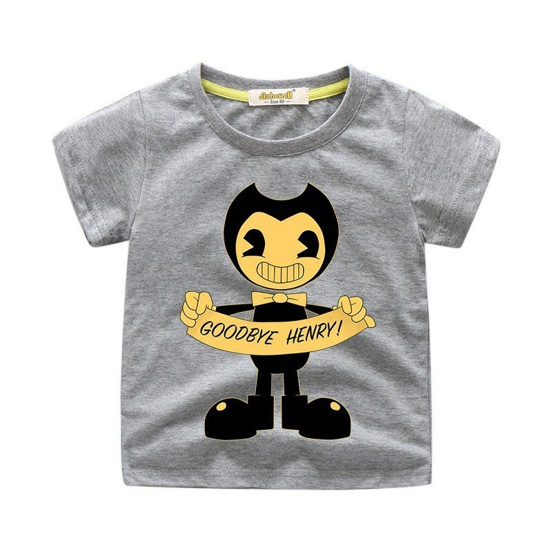 Bendy Shirt Roblox Kids Gifts Bendy And The Ink Machine T Shirt Kids Cotton Shirt Funny Youth Tee New Best Gifts For Kids