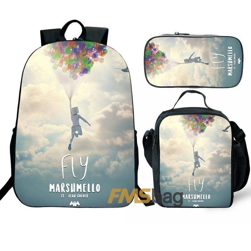 Marshmello Backpack/Lunch box/Shoulder bag/Pencil case Super Value Preferential Set