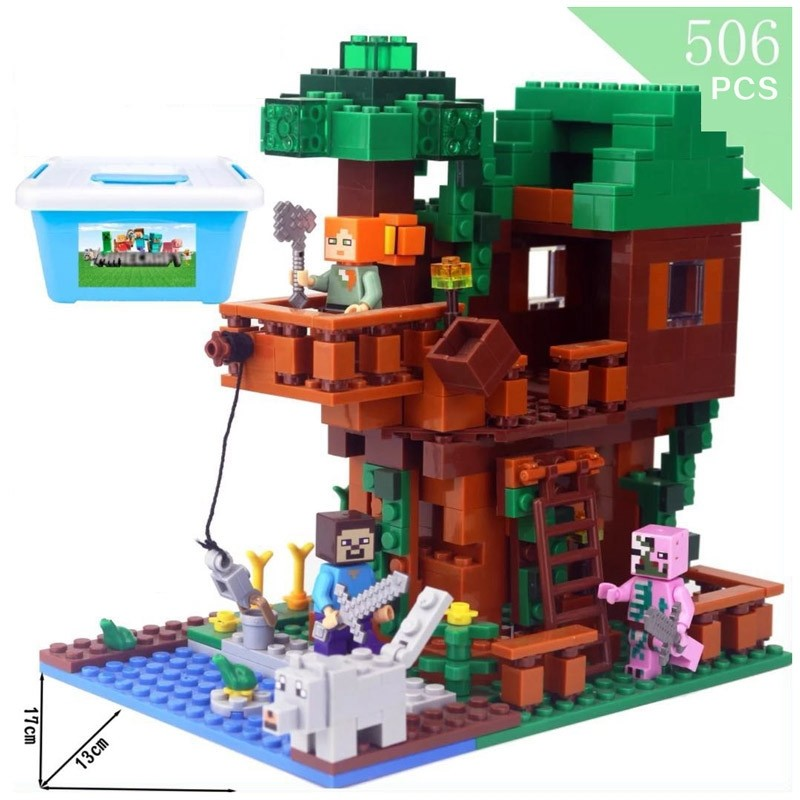 Minecraft The Tree House Kids Gift Build Blocks Pack Set