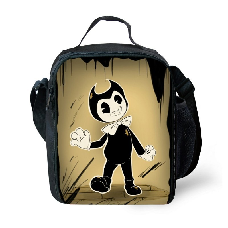 Bendy and the Ink Machine Lunch Box Waterproof Insulated Lunch Bag Portable Lunchbox for School Travel Office