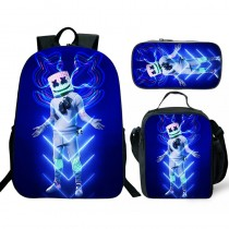 Marshmello DJ Backpack/Lunch box/Shoulder bag/Pencil case Set