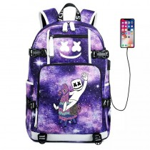 Marshmello Fortnite Llama Backpack School Bag 600D Bookbag for Kids