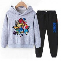 Sonic The Hedgehog boys Hoodies Cotton Sweatshirts