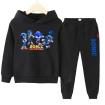 Sonic The Hedgehog Kids Hoodies Cotton Sweatshirts