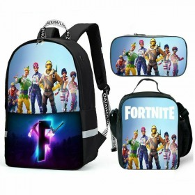 NEW Fortnite Raptor Backpack/Lunch box/Shoulder bag/Pencil case Super Value Preferential Set