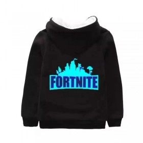 Fortnite Kids Hoodies Sweatshirts Thick Fleece Jackets Clothes Zipup Coats Glows in the dark