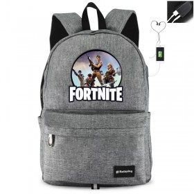 Fortnite Backpack BookbagTravelbag Bag Handbag waterproof with USB Charging Port