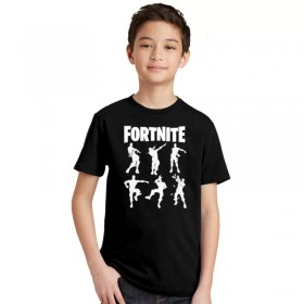 Fortnite T-Shirt Kids Cotton Shirt Funny Youth Tee 1