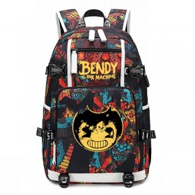 Bendy and the Ink Machine  Backpack School Bags Student travel Shoulder Bag Unisex Daypack 1