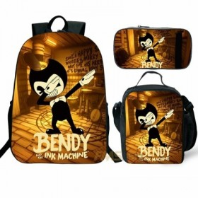 Bendy and the Ink Machine Backpack/Lunch box/Shoulder bag/Pencil case Super Value Preferential Set