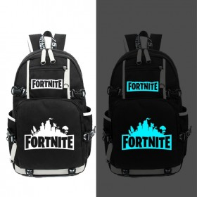 Fortnite Luminous Backpack Bookbag Handbags Travelbag Bag Black