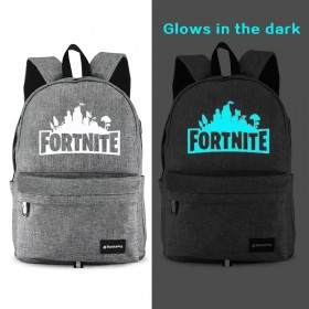 Fortnite Backpack Bookbag School Bag waterproof with USB Charging Port Blue Noctilucan
