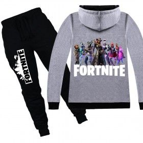 Fortnite Kids Cotton Zip Hoodies Boys Girls Sweatshirts Clothing Jacket 7