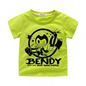 Bendy and the Ink Machine T-Shirt Kids Cotton Shirt Funny Youth Tee new 3