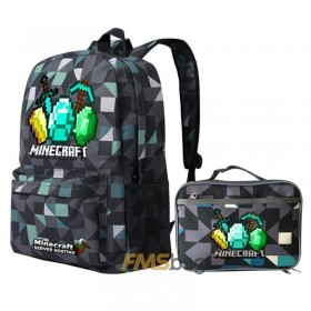 Minecraft Backpack School backpack Bookbag Diamonds Logo