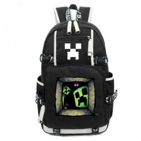 Minecraft School Backpack Creeper Window New Version