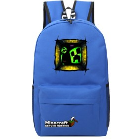 Minecraft  Schoolbag Backpack Bookbag Travelbag Green Window