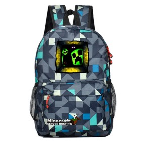 Minecraft  Schoolbag Backpack Bookbag Travelbag Green Window lingge blue